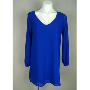 Lulu's Give Me a Shift Long Sleeve Dress Small